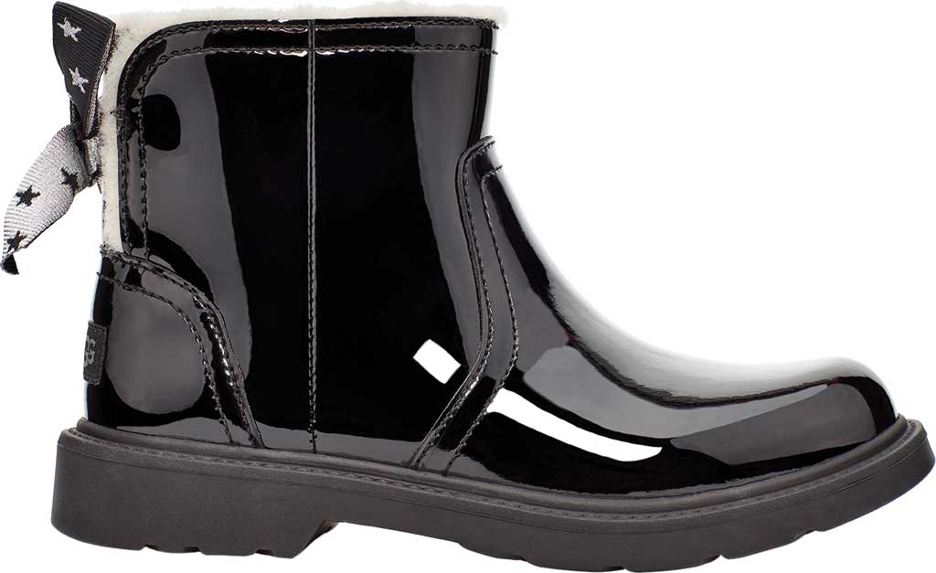 Children's UGG Lynde Patent Bootie, Black Cow Patent Leather, large, image 2