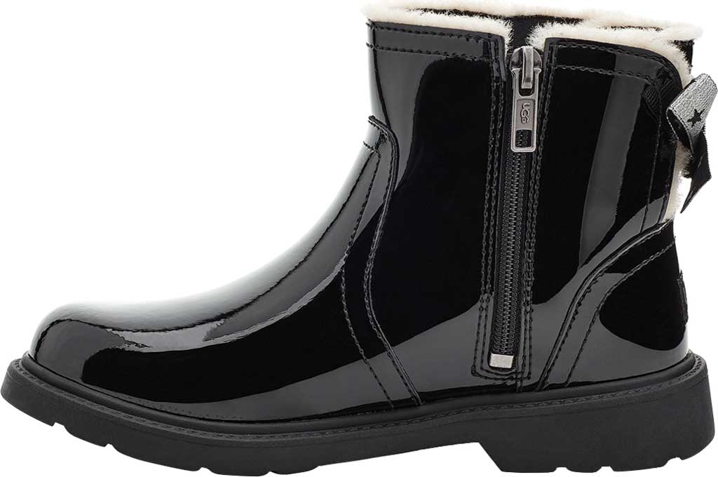 Children's UGG Lynde Patent Bootie, Black Cow Patent Leather, large, image 3