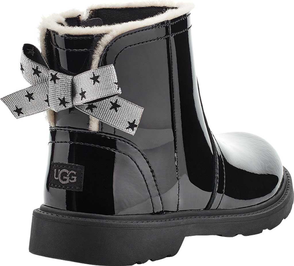 Children's UGG Lynde Patent Bootie, Black Cow Patent Leather, large, image 4