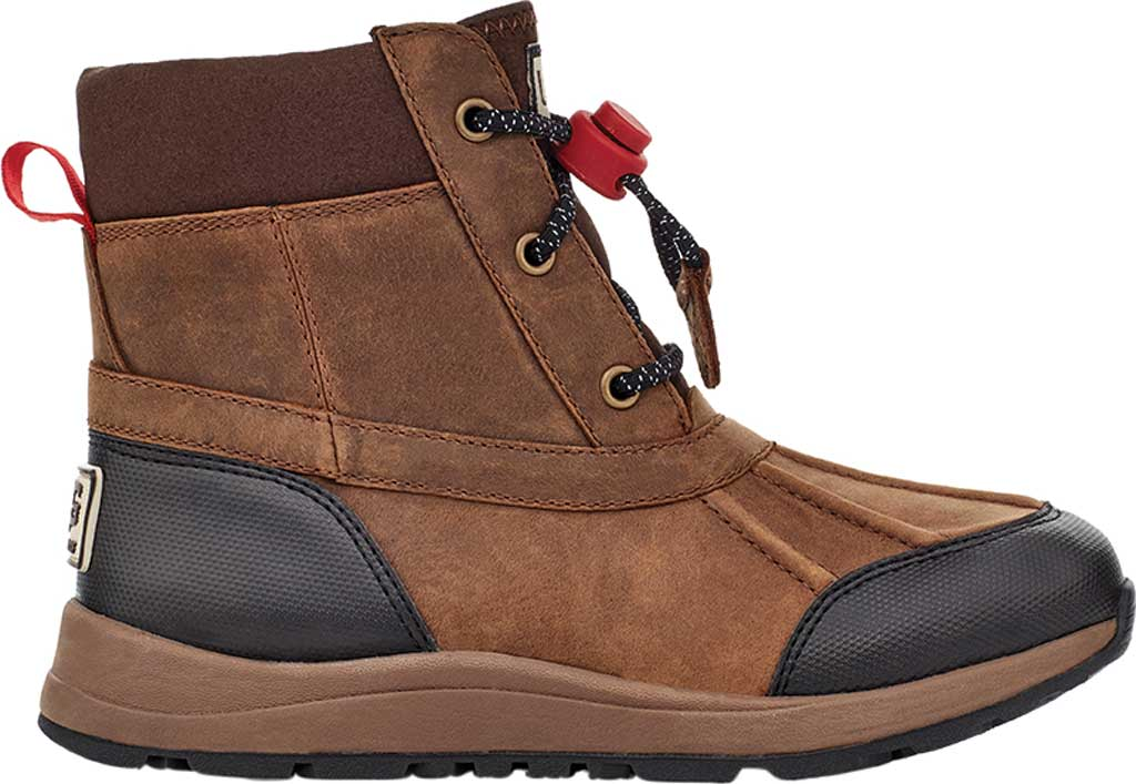 Children's UGG Turlock Leather Weather Waterproof Duck Boot, Walnut Waterproof Leather, large, image 2