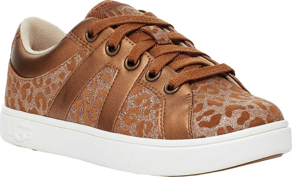 Children's UGG Marcus Glitter Leopard Sneaker, Chestnut Cow Leather, large, image 1