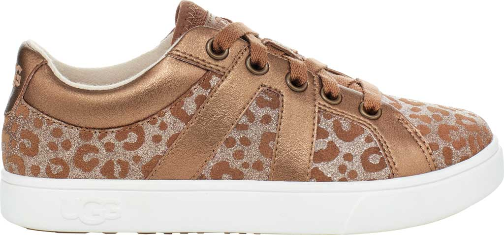 Children's UGG Marcus Glitter Leopard Sneaker, Chestnut Cow Leather, large, image 2