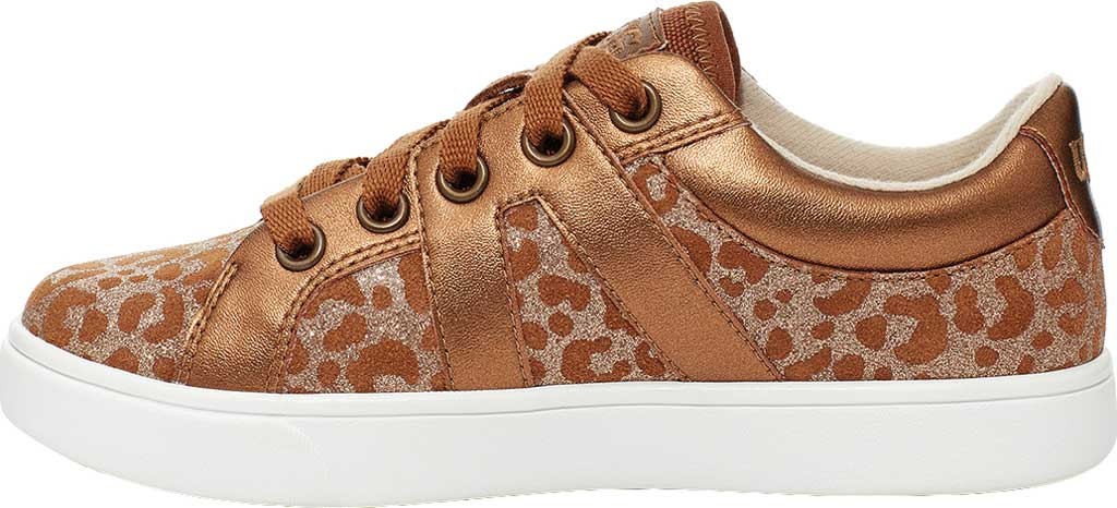Children's UGG Marcus Glitter Leopard Sneaker, Chestnut Cow Leather, large, image 3