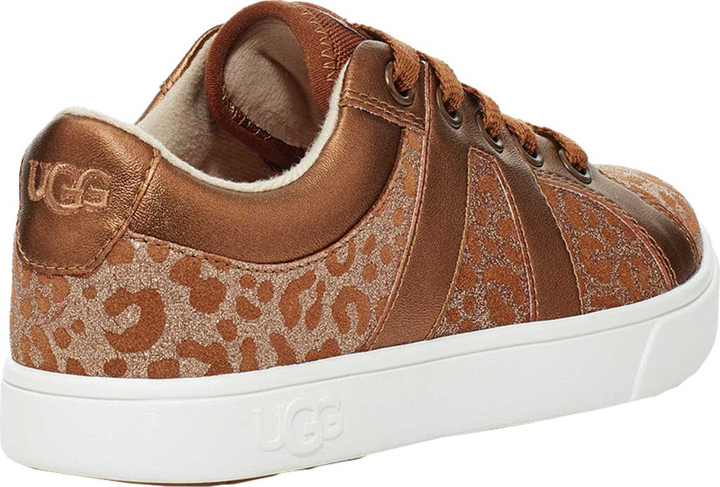 Children's UGG Marcus Glitter Leopard Sneaker, Chestnut Cow Leather, large, image 4