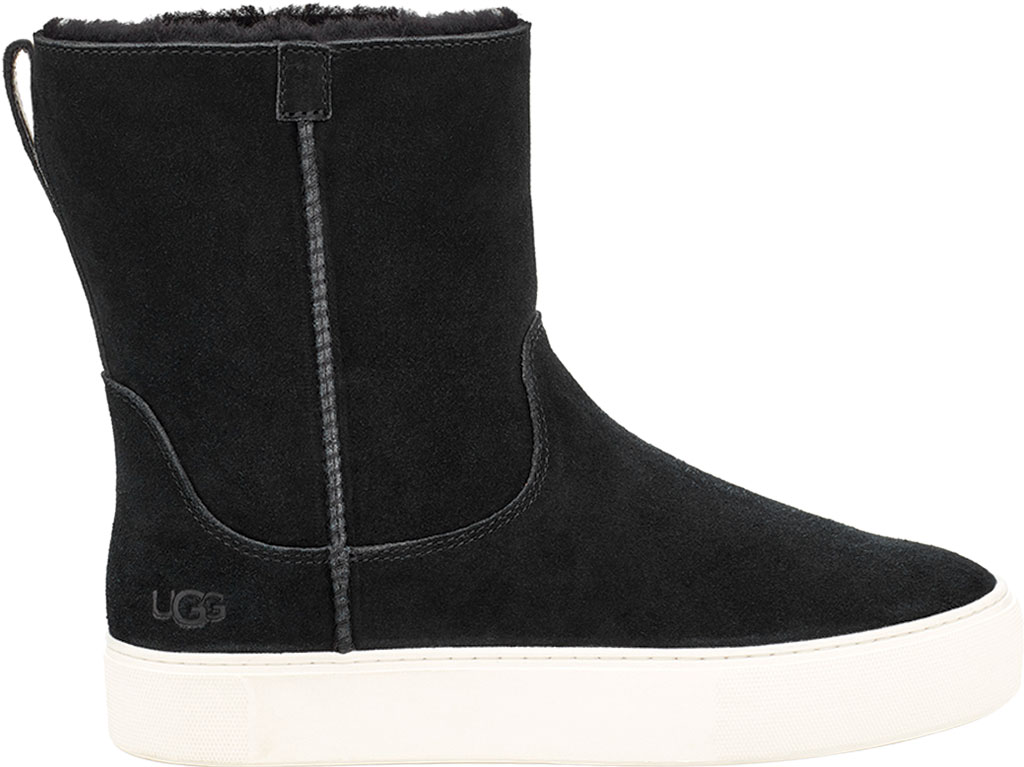 Women's UGG Declan Mid Calf Boot, Black Cow Suede, large, image 1