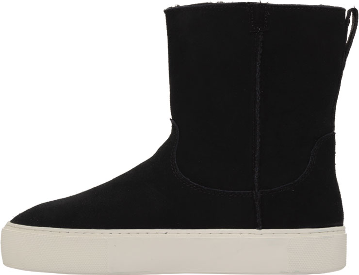 Women's UGG Declan Mid Calf Boot, Black Cow Suede, large, image 3