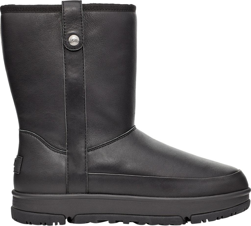 Women's UGG Classic Weather Short Mid Calf Waterproof Boot, Black Waterproof Leather, large, image 1