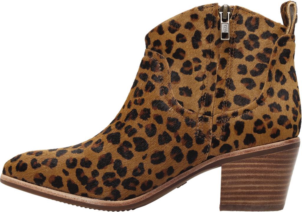 Women's UGG Kingsburg Leopard Ankle Bootie, Natural Leopard Calf Hair, large, image 3