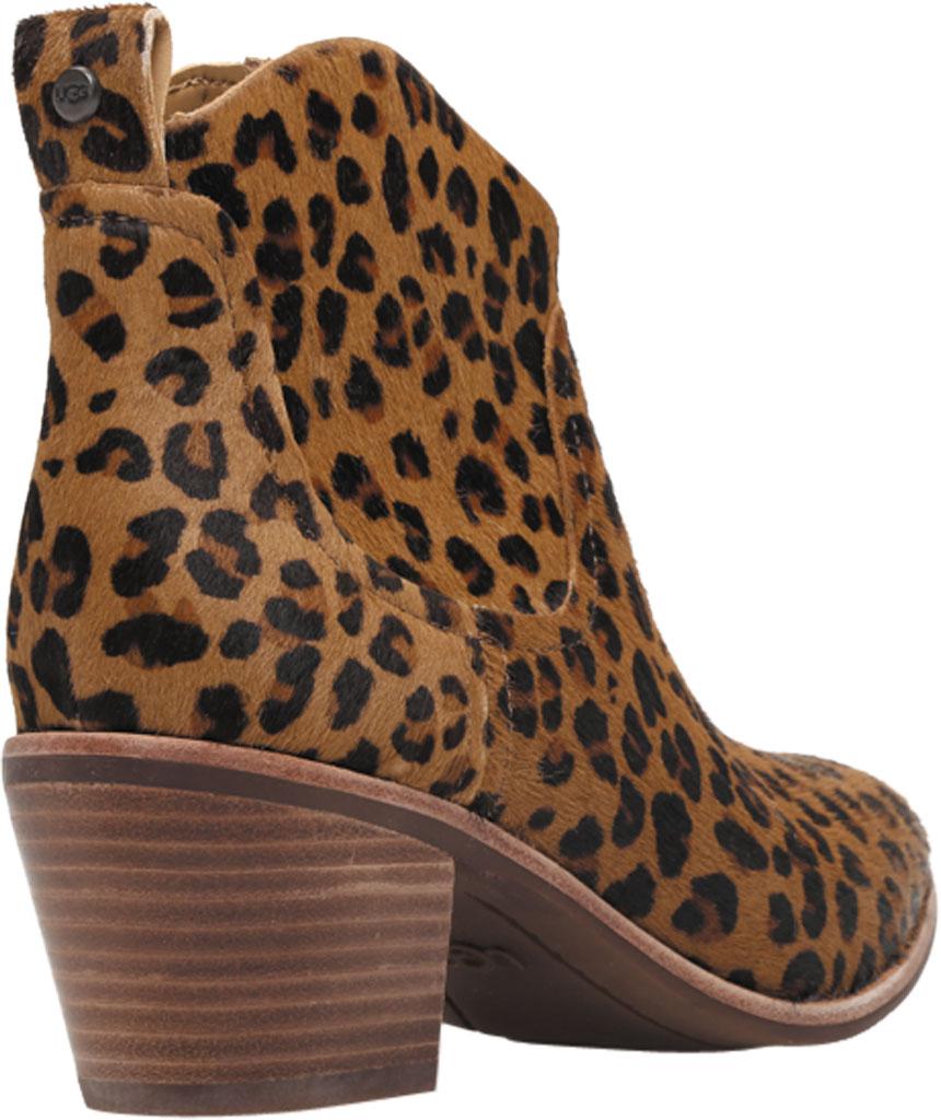 Women's UGG Kingsburg Leopard Ankle Bootie, Natural Leopard Calf Hair, large, image 4