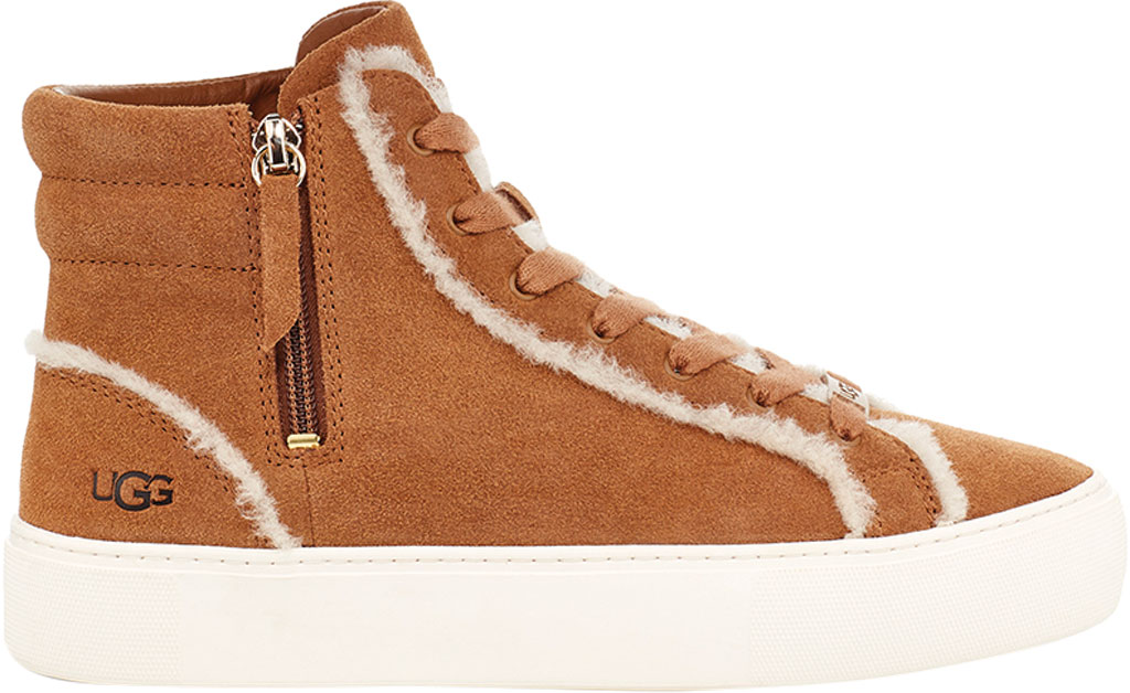 Women's UGG Olli Heritage High Top Sneaker, Chestnut Cow Suede, large, image 1