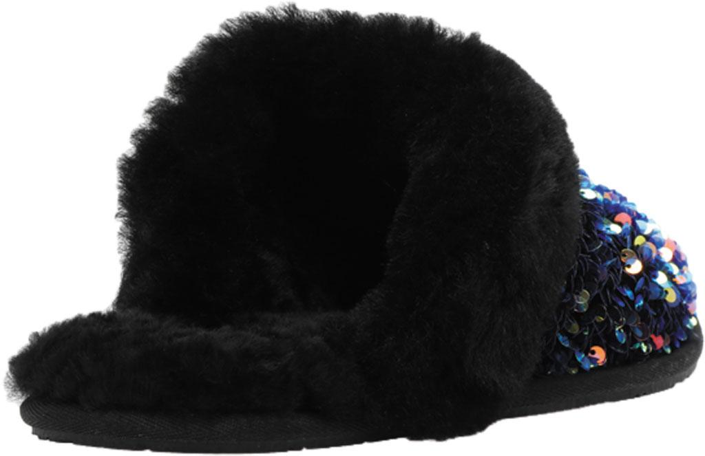 Women's UGG Scuffette II Stellar Sequin Scuff, Black Sequin Textile, large, image 4