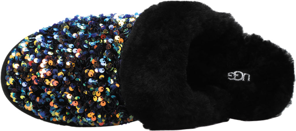 Women's UGG Scuffette II Stellar Sequin Scuff, Black Sequin Textile, large, image 5
