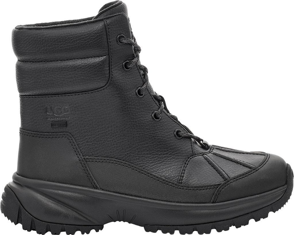 Women's UGG Yose Waterproof Snow Duck Boot, Black Waterproof Leather, large, image 1