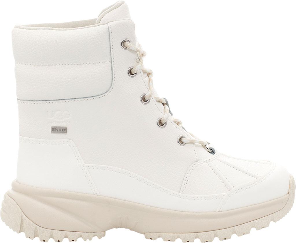 Women's UGG Yose Waterproof Snow Duck Boot, White Waterproof Leather, large, image 1