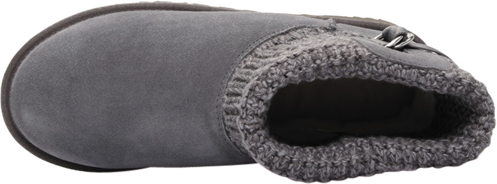 Women's UGG Classic Solene Mini Sweater Bootie, Charcoal Soft Knit, large, image 5