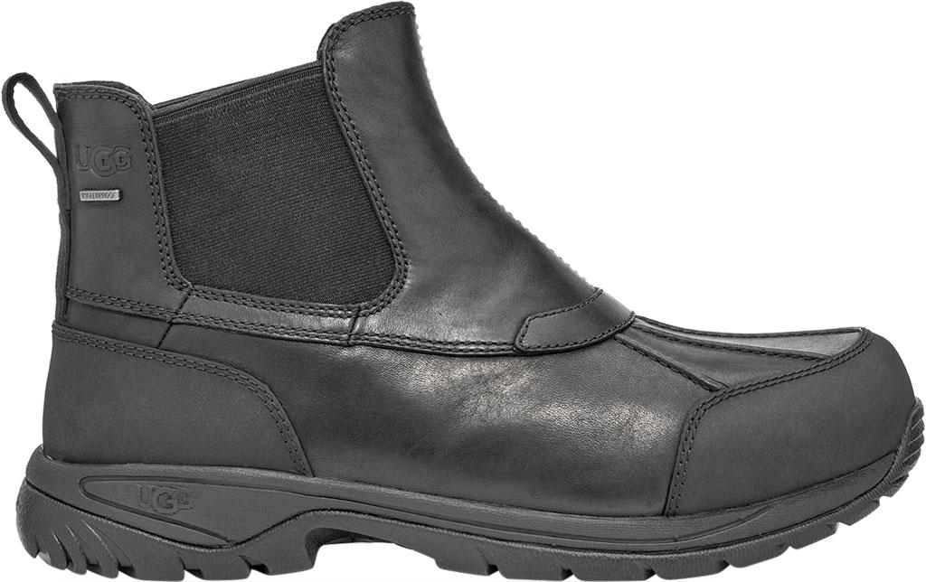 Men's UGG Butte Waterproof Winter Duck Chelsea Boot, Black Waterproof Full Grain Leather, large, image 1