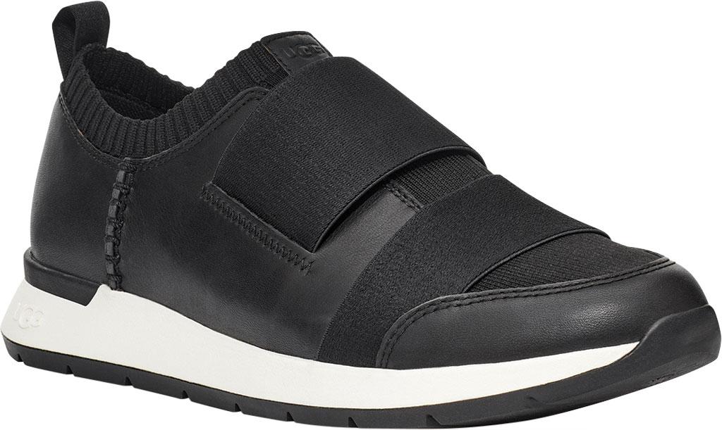 Women's UGG Himari Slip On Sneaker, Black Cow Leather/Engineered Knit, large, image 1