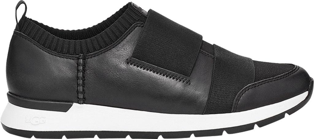 Women's UGG Himari Slip On Sneaker, Black Cow Leather/Engineered Knit, large, image 2