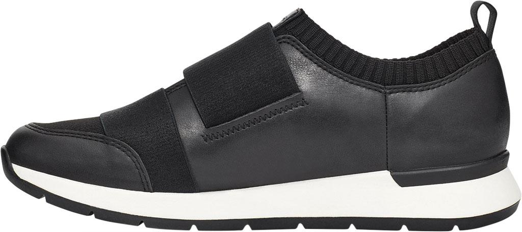 Women's UGG Himari Slip On Sneaker, Black Cow Leather/Engineered Knit, large, image 3