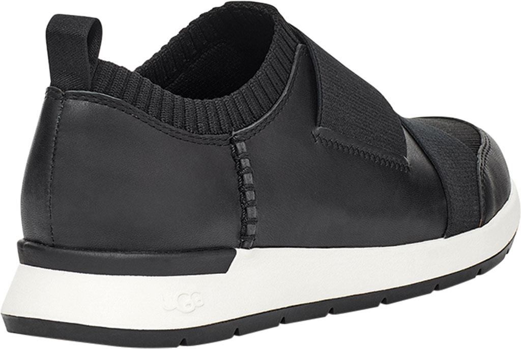 Women's UGG Himari Slip On Sneaker, Black Cow Leather/Engineered Knit, large, image 4