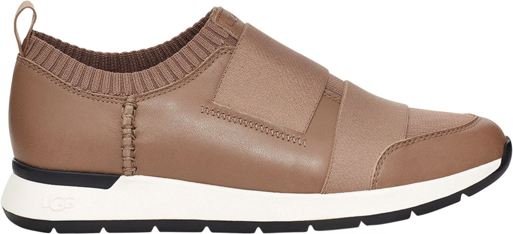 Women's UGG Himari Slip On Sneaker, Caribou Cow Leather/Engineered Knit, large, image 2