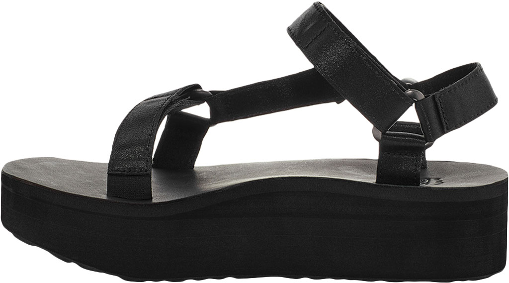 Women's Teva Flatform Universal Satin Sandal, Black Luxe Satin, large, image 3