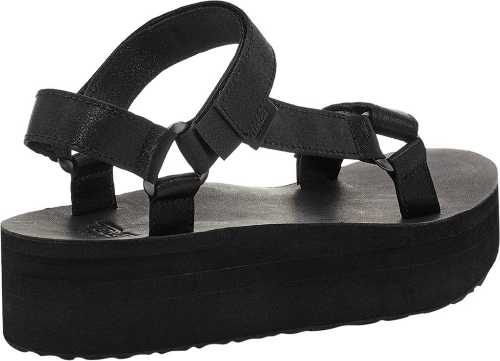 Women's Teva Flatform Universal Satin Sandal, Black Luxe Satin, large, image 4