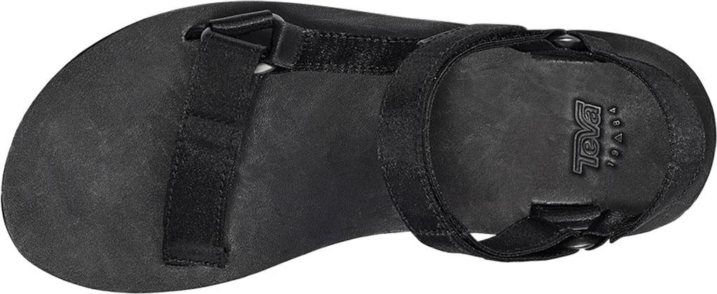 Women's Teva Flatform Universal Satin Sandal, Black Luxe Satin, large, image 5