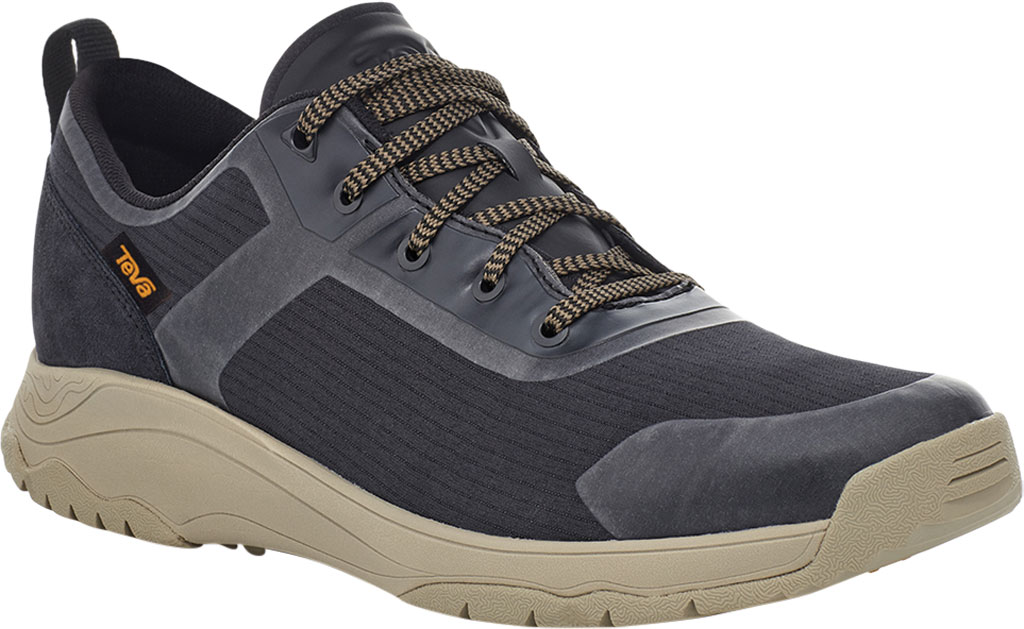 Men's Teva Gateway Low Hiking Sneaker, Black/Plaza Taupe Recycled Polyester/Suede, large, image 1