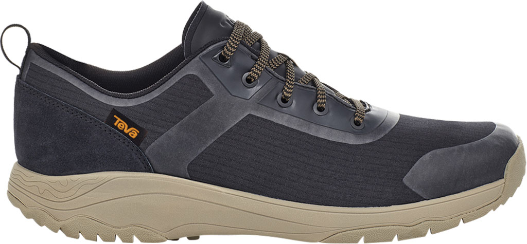 Men's Teva Gateway Low Hiking Sneaker, Black/Plaza Taupe Recycled Polyester/Suede, large, image 2
