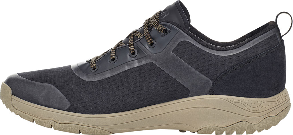 Men's Teva Gateway Low Hiking Sneaker, Black/Plaza Taupe Recycled Polyester/Suede, large, image 3