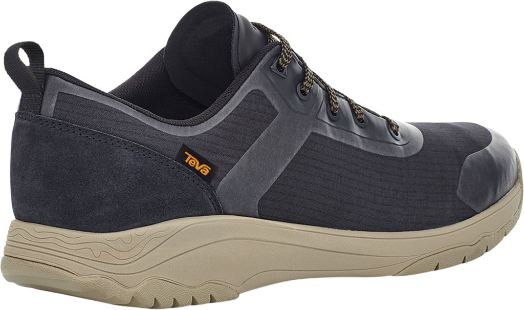 Men's Teva Gateway Low Hiking Sneaker, Black/Plaza Taupe Recycled Polyester/Suede, large, image 4