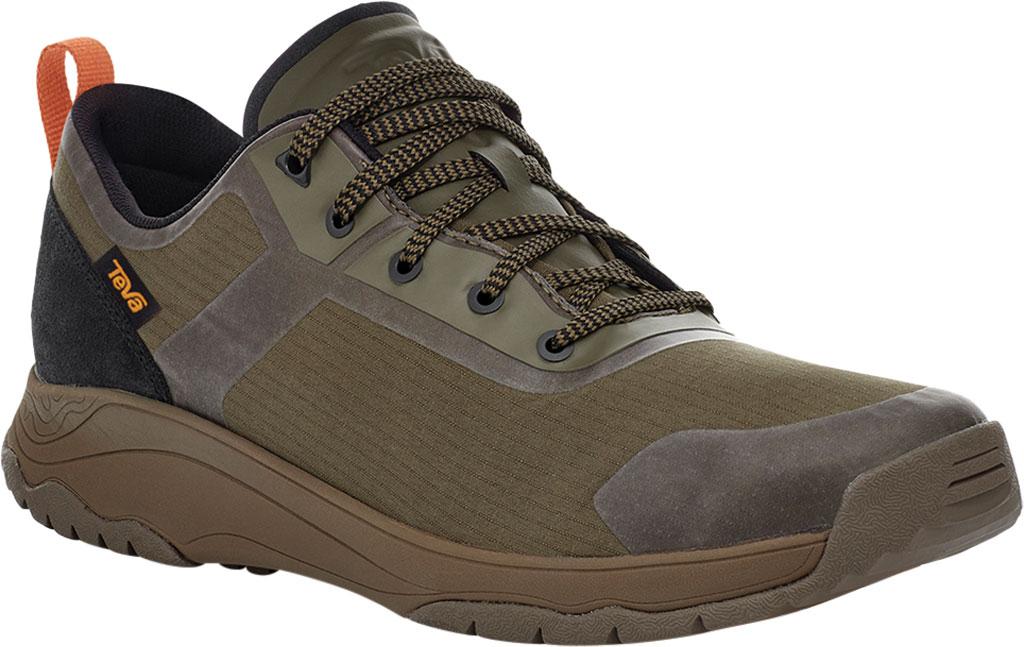 Men's Teva Gateway Low Hiking Sneaker, Dark Olive Recycled Polyester/Suede, large, image 1
