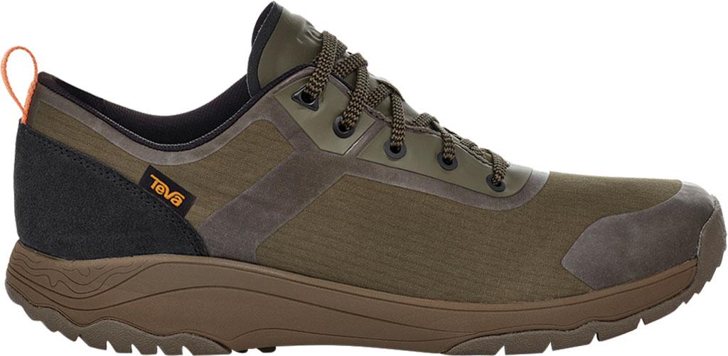 Men's Teva Gateway Low Hiking Sneaker, Dark Olive Recycled Polyester/Suede, large, image 2