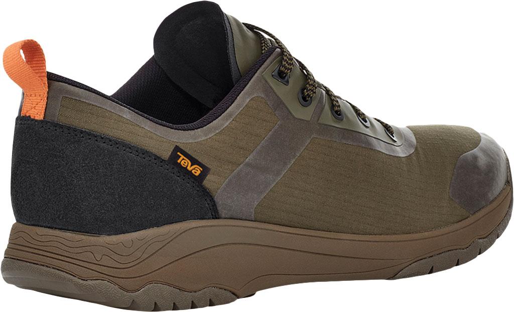 Men's Teva Gateway Low Hiking Sneaker, Dark Olive Recycled Polyester/Suede, large, image 4
