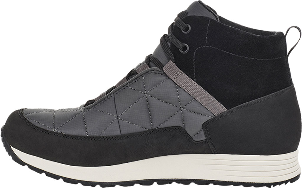 Men's Teva Ember Commute Waterproof Boot, Black/Grey Leather/Recycled Polyester, large, image 3