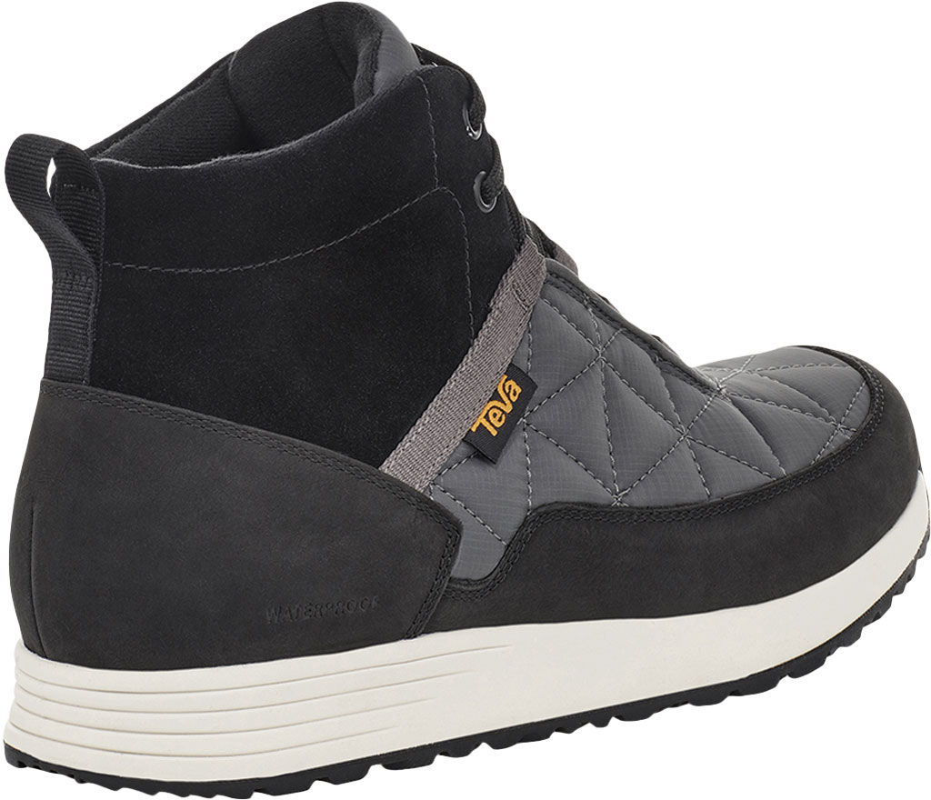 Men's Teva Ember Commute Waterproof Boot, Black/Grey Leather/Recycled Polyester, large, image 4