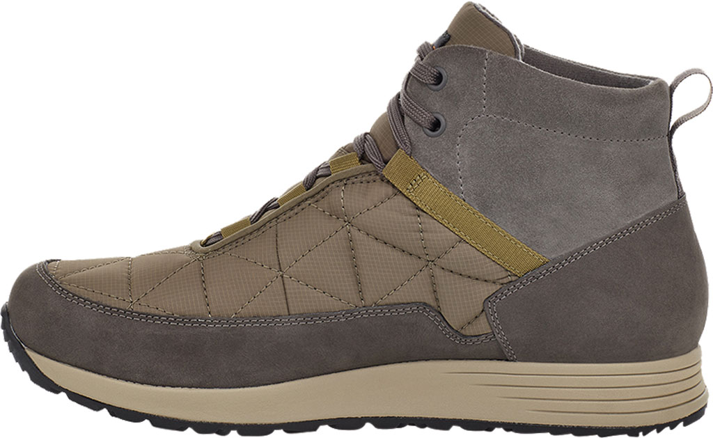 Men's Teva Ember Commute Waterproof Boot, Grey/Olive Leather/Recycled Polyester, large, image 3