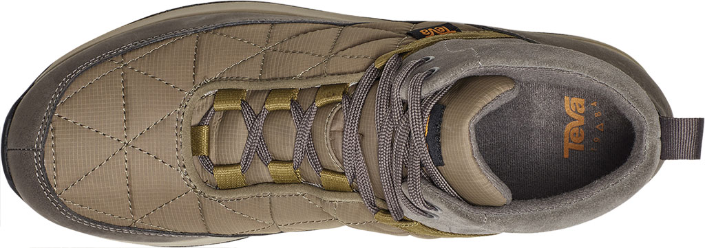 Men's Teva Ember Commute Waterproof Boot, Grey/Olive Leather/Recycled Polyester, large, image 5