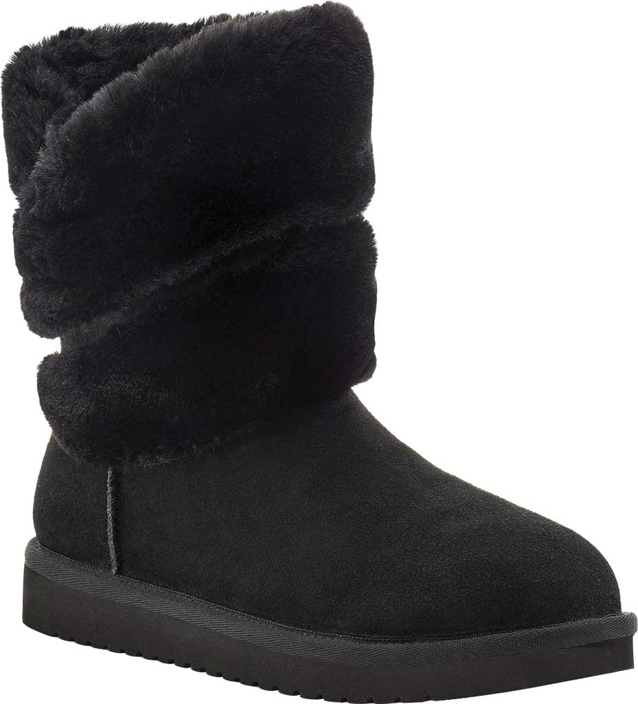 Women's Koolaburra by UGG Dezi Short Mid Calf Boot, Black Suede, large, image 1