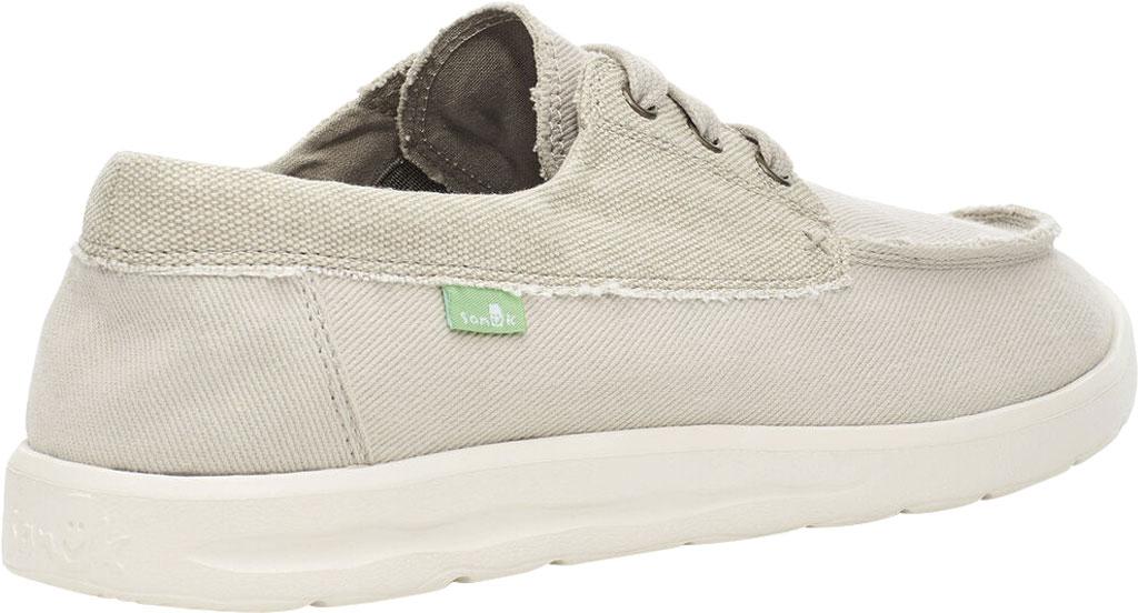 Men's Sanuk Skuner Lite Moc Toe Sneaker, Natural Canvas, large, image 4