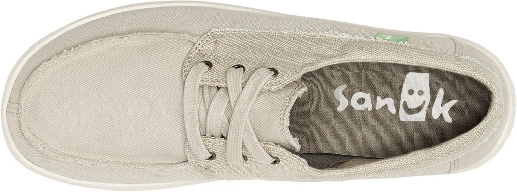 Men's Sanuk Skuner Lite Moc Toe Sneaker, Natural Canvas, large, image 5
