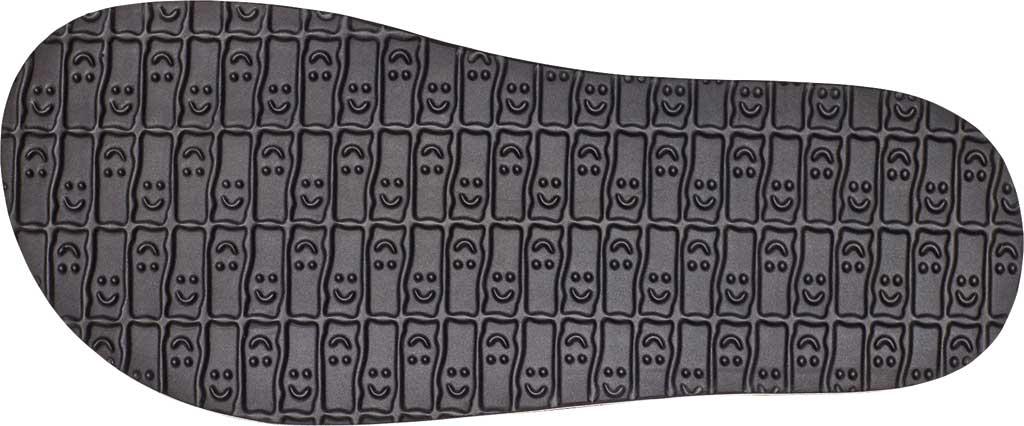Men's Sanuk Beer Cozy Stacker HI Flip Flop, Black Synthetic Leather, large, image 6