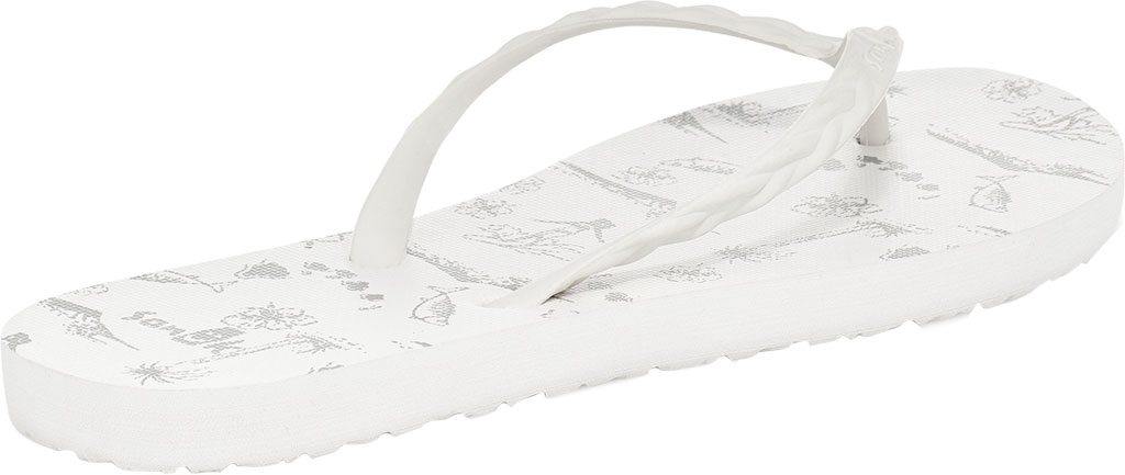 Women's Sanuk Slim Braidy Hawaii Flip Flop, White Rubber, large, image 4