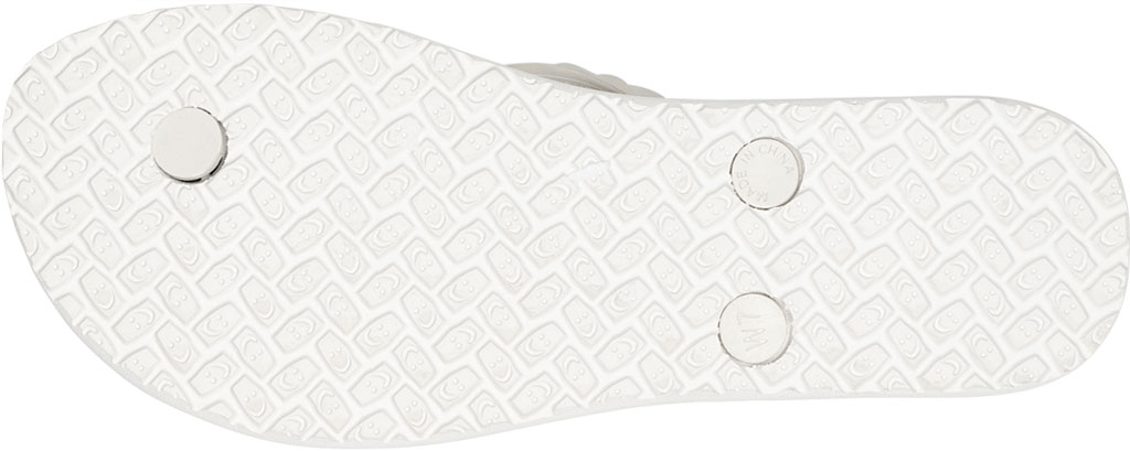 Women's Sanuk Slim Braidy Hawaii Flip Flop, White Rubber, large, image 6