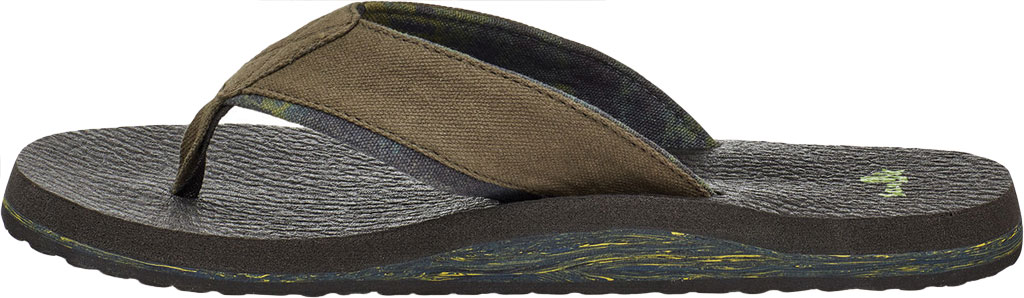 Men's Sanuk Beer Cozy 2 Grateful Dead Flip Flop, Dark Brown/Tie Dye Canvas, large, image 3