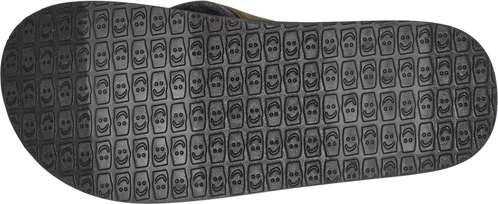 Men's Sanuk Beer Cozy 2 Grateful Dead Flip Flop, Dark Brown/Tie Dye Canvas, large, image 6