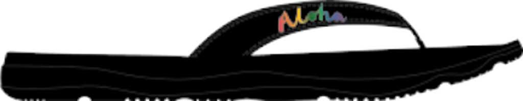 Women's Sanuk Tripper Hawaii Flip Flop, Black Synthetic, large, image 1