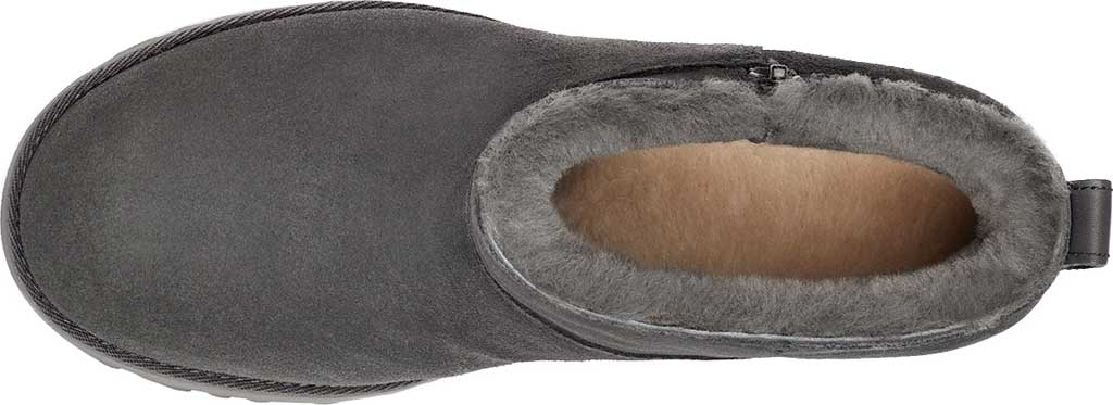 Women's UGG Classic Femme Zip Mini Wedge Bootie, Grey Water Resistant Suede, large, image 4