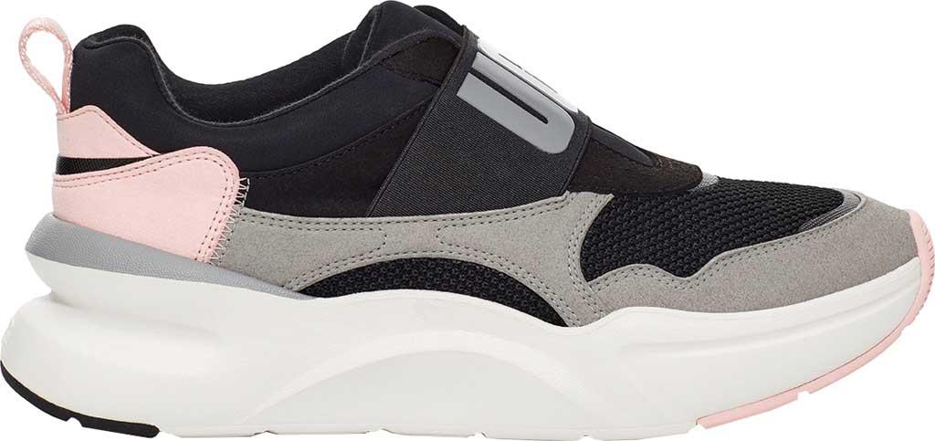 Women's UGG La Flex Sneaker, Black Mesh/Seal/Synthetic Suede, large, image 1
